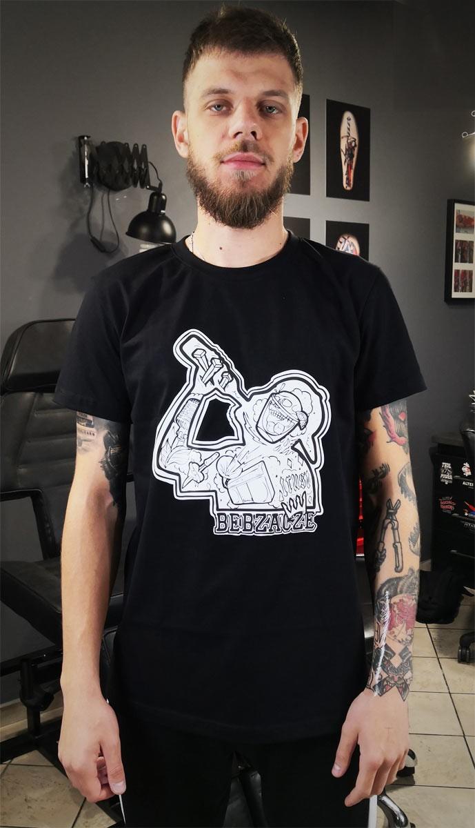 """Koszulka """"Tattoo Trust"""" Slim czarna"""