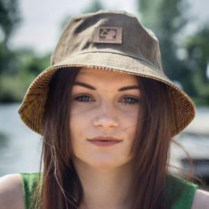 Bucket Hat Bebzaczki Khaki