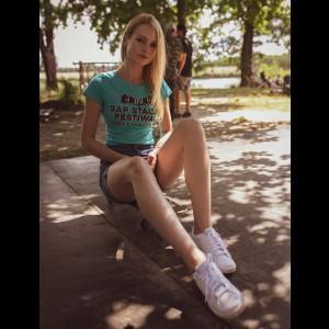 Rap Stacja Festiwal T-shirt damski turkus